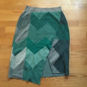 Anthropologie knee length sweater skirt